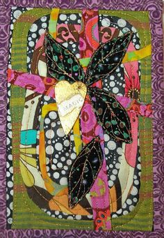 A small art quilt made a few years ago. Lots of hand applique done on this.