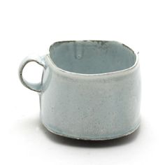 blue kinda square sweetie cup - The Clay Studio