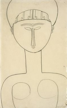 Amedeo Modigliani  Caryatid, Frontal View circa 1911