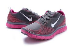 Nike Womens Free Run 5.0 V4 Shoes Silver Rose, $76.14 | www.nikeairspace.com