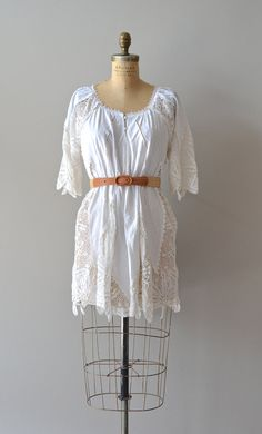 1970s crochet dress / 70s knit dress / Desert Angel dress