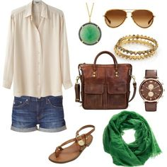 Love creams & browns with a touch of green