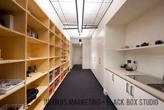 Bamboo shelving by Tina Tziallas Architecture Studio & Factor Design - Black Box Project