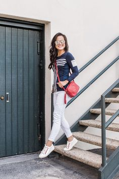 My 5 rules for wearing Athleisure!  {Tory Sport Sneakers | Tory Sport long sleeve Top | Gucci Bag}