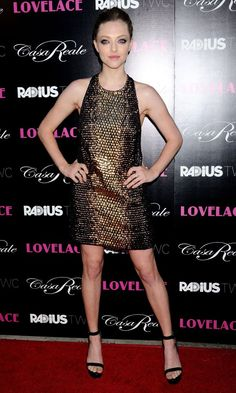 Amanda Seyfried in Gucci dress at the Lovelace premiere in LA - August 2013