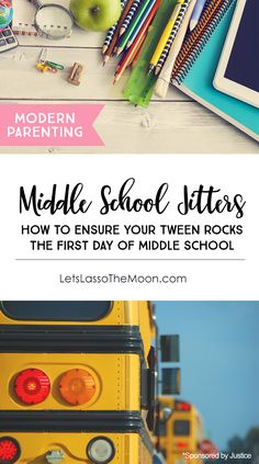Raising Strong Girls: Got middle school jitters? Help your tween overcome first day panic with these tips. Here's what parents need to know before the first day of middle school. #justicestyle #ad *Great back-to-school resource.