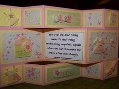 Tri fold cards | Mik Knits, Crochets & Quilts, Too!: Baby Girl Tri Fold Shutter Card