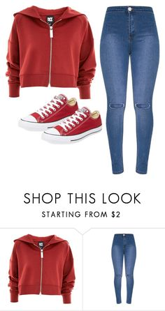 """Untitled #18"" by evelinefeitosaneres on Polyvore featuring Topshop and Converse"