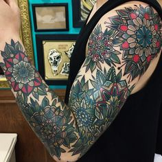 The Most Incredible Blackwork And Colourful Mandala Sleeve Tattoos You Have Ever Seen! This Is A Must. Promise.