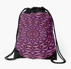 A mandala made of rings with diamond highlights, each has a stone texture and 3d appearance. • Also buy this artwork on bags, apparel, stickers, and more.