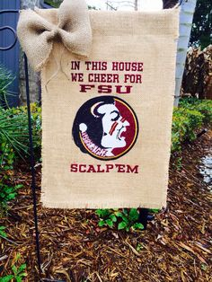 Florida State University Burlap Garden Flag 1 of a by NolaChicks, $35.00