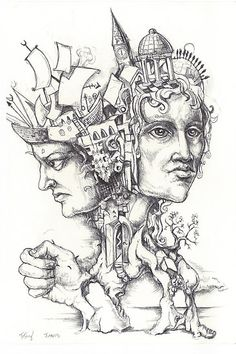 The Roman God Janus by Jedika. Look back at the new year, be disappointed in oneself, be hopeful for change!