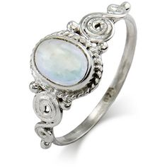 Vintage Moonstone Sterling Silver Ring | Eve's Addiction® ($32) ❤ liked on Polyvore featuring jewelry, rings, vintage jewelry, sterling silver rings, moonstone ring, swirl ring and vintage sterling silver rings