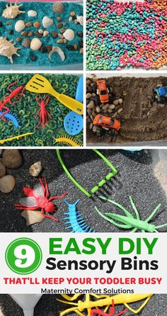9 Easy DIY sensory bins that'll keep your toddler busy, toddler activities, sensory play