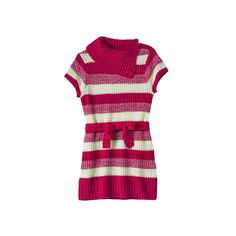 Girls Plus Size It's Our Time Splitneck Striped Sweater Tunic, Girl's, Size: Xxl Plus, Red Other