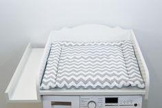 Weißer Wickelaufsatz für die Waschmaschine, Babyaccessoires / white changing table for washing mashine, baby accessory made by kraftkids via DaWanda.com