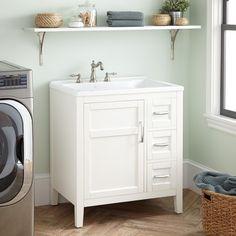 "30"" Tamsin Laundry Vanity - White"