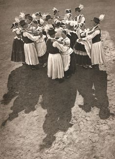 These photographs are taken from a cloth-bound book called 'Images of Hungary'--that being an educated guess on the translation of the Hungarian title. More of these marvelous documents of peasant life to come: Bound Book, Dancing, Life, Image, Dance