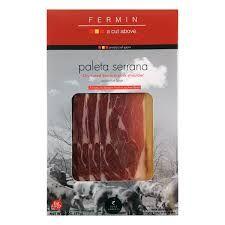 Fermin: Serrano Paleta (Shoulder)  (2oz pack) @ https://houseofcaviarandfinefoods.com/gourmet-meats/fermin-serrano-paleta-shoulder-2oz-pack-detail #caviar #blackcaviar #finefoods #gourmetfoods #gourmetbasket #foiegras #truffle #italiantruffle #frenchtruffle #blacktruffle #whitetruffle #albatruffle #gourmetpage #smokedsalmon #mushroom #frozenporcini #curedmeets #belugacaviar #ossetracaviar #sevrugacaviar #kalugacaviar #freshcaviar #finecaviar #bestcaviar #wildcaviar #farmcaviar…