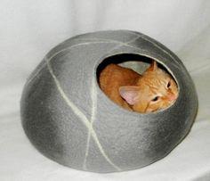 Maison pour chat.Lit-Grotte.Chats et petits chiens.CAILLOUX 1