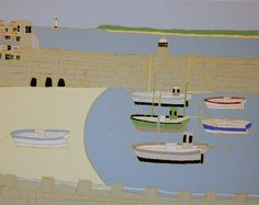 The New Craftsman Gallery | St. Ives | Cornwall - Bryan Pearce - Three Arches and Boats