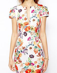 ASOS | ASOS Mini Sexy Pencil Dress in Floral Print at ASOS