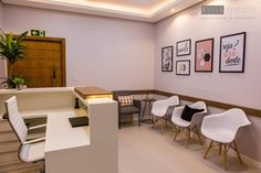 Dental Office Design, Office Interior Design, Office Interiors, Work Office Design, Design Offices, Modern Offices, Interior Design Portfolios, Waiting Room Decor, Waiting Room Design