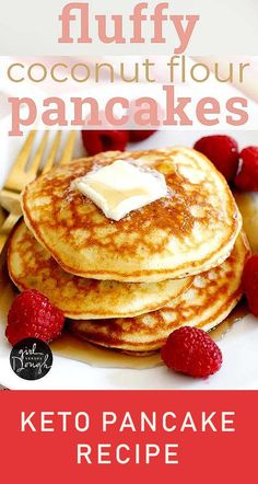 Fluffy Coconut Flour Pancakes This Simple And Deliciously Fluffy Coconut Flour P. - Fluffy Coconut Flour Pancakes This Simple And Deliciously Fluffy Coconut Flour Pancakes – - Best Keto Pancakes, Dairy Free Pancakes, Coconut Flour Pancakes, Lime Cheesecake, Cheesecake Recipes, Dessert Recipes, Unbaked Cheesecake, Desserts, Best Turkey Gravy