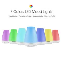 Amazon.com: InnoGear Aromatherapy Essential Oil Diffuser Portable Ultrasonic Diffusers with Color LED Lights Changing and Waterless Auto Shut-off Function for Home Office Bedroom Room, 100 mL: Health & Personal Care