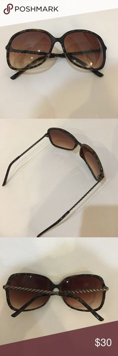NWOT Franco Sarto. Tortoise pattern  sunglasses Excellent condition. No scratches. Tortoise pattern. Brand on inner side of sunglasses wearing off as shown. Franco Sarto Accessories Sunglasses