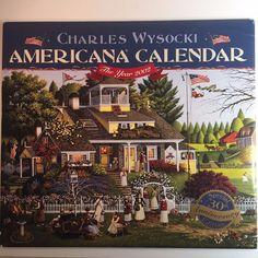 Charles Wysocki Calendar Art Prints Americana Amish Nantucket Lighthouse 2002