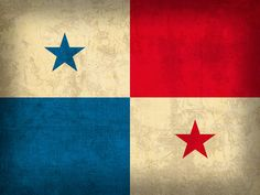 Panama Flag Vintage Distressed Finish Mixed Media