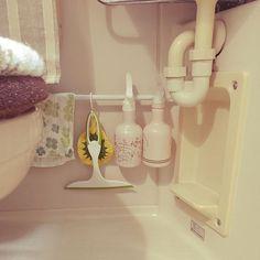 eringo0727さんのBathroom IKEA 雑貨 100均 ユニットバス ニトリ セリア 1R 一人暮らし 賃貸 狭いを諦めない ⚫︎⚫︎の置き場所に関する部屋写真