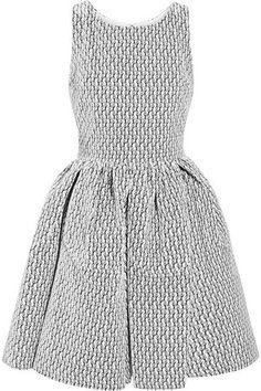 Alaïa - Embroidered Velvet Mini Dress - White