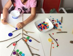 Cool Recycled Kids Craft Idea: Button Tree