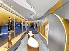 German Engineering: Fun Factory by Karim Rashid | Projects | Interior Design. Glass tops a display fixture.