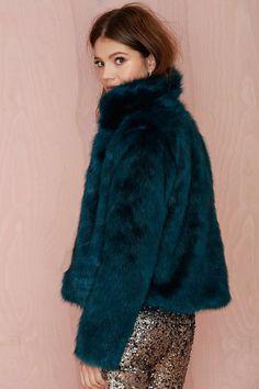 Glamorous Furred Lines Jacket #FauxFur