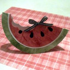 How To Make A Watermelon Card Or Invitation For Summer Parties. By So Crafty contributor CorrinnaJohnson. http://www.squidoo.com/how-to-make-a-watermelon-card-or-invitation-for-summer-parties