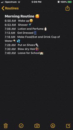 School Routine For Teens, Morning Routine School, School Routines, Life Hacks For School, Girl Life Hacks, Night Routine, Daily Routine Schedule, Beauty Routine Checklist, Routine Planner