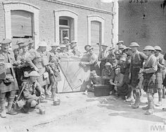 WWI, 3 May 1917, Battle of Arras; Troops of the 4th South African Regiment during rest at Blangy. ©IWM Q 5294