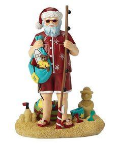 Pipka Santas Of America Seashore Santa at the Beach Christmas Figurine 7161209 Santa Figurines, Christmas Figurines, Beach Christmas, Father Christmas, Christmas Gifts, Santa Claws, Lenox China, Classic Hats, Beach Attire