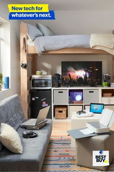 For everything from schoolwork, to dining in or chilling out, Best Buy has the dorm-room tech you need. Dream Rooms, Dream Bedroom, Girls Bedroom, Bedroom Decor, Bedrooms, Broadway New York, Maryland, New Room, Dorm Room