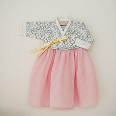 Bom Liberty Korea traditional for kids Korean Traditional Dress, Traditional Fashion, Traditional Dresses, Korean Outfits, Kids Outfits, Baby Girl Fashion, Kids Fashion, Korea Dress, Modern Hanbok