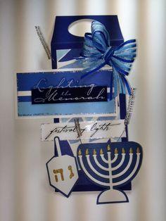 Bottle Tag; Hanukkah; Silver