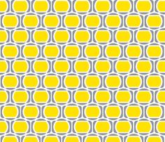 Zeke's Pattern - Yellow Gray fabric by dianef on Spoonflower - custom fabric Yellow Laundry Rooms, Yellow Bathrooms, Shops, Yellow Pattern, Textile Patterns, Textiles, House Layouts, Brighten Your Day, Grey Fabric