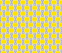 Zeke's Pattern - Yellow Gray fabric by dianef on Spoonflower - custom fabric