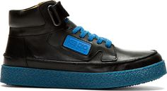 Kenzo - Black Leather Kenyon High-Top Sneakers | SSENSE