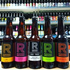 5 new beers. IPA Pale Ale Brown Ale Summer Saison & Tart Raspberry Wit from @runawaybrewery in stock now