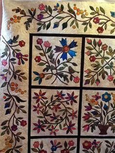 Spring Bouquet.  Machine Quilting by Sheri Zalar 309-698-0398