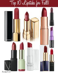 Top 10 Lipsticks for Fall